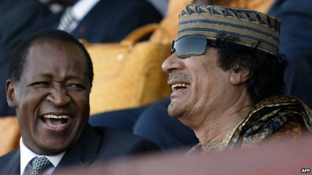 quaddafi compaore